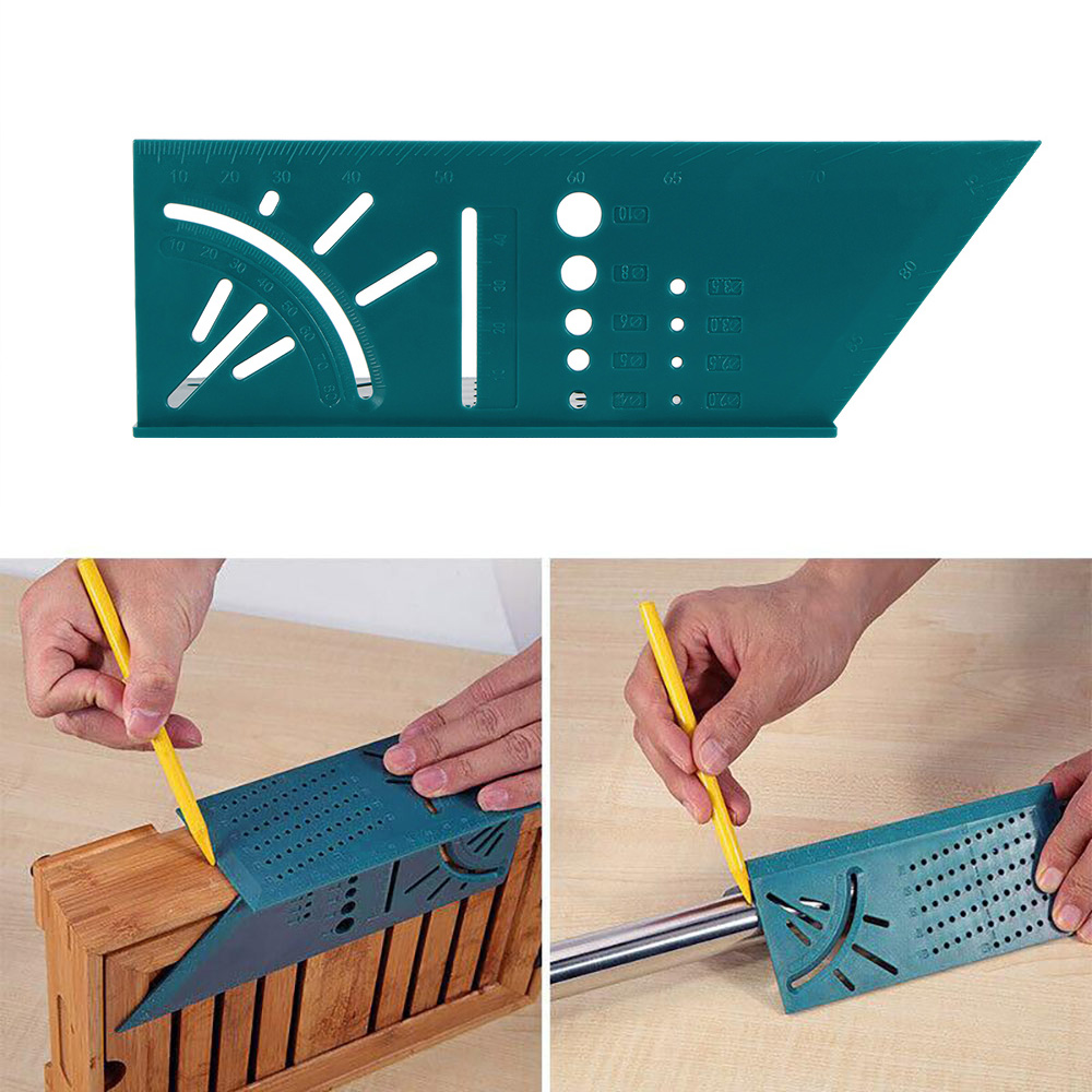 Woodworking Scribe Mark Line Gauge T-Type Ruler Square Layout Miter 90 Degree Gauge Measuring Gauging Carpenter