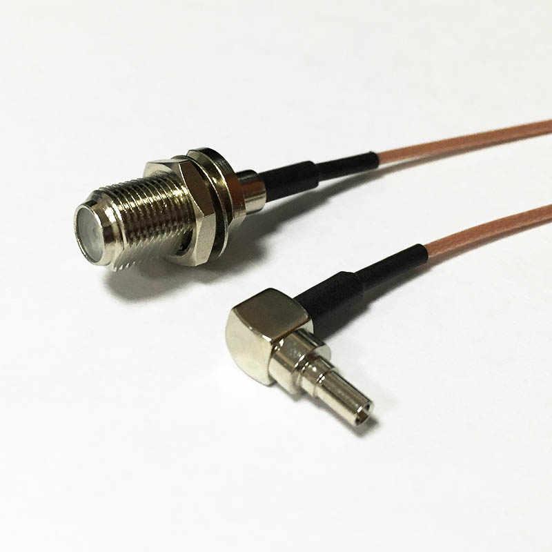 """Kablosuz Modem Tel F Dişi Jack Anahtarı CRC9 Dik Açı Konektörü RG178 Kablo 15CM 6 """"Yeni Toptan Hızlı gemi"""