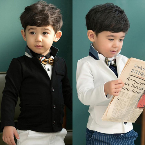 Retail 1pc New Baby Boys coat long sleeve jackets children kid gentlemen outerwear fashion boy coats suit 2 – 7 yrs