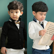 Retail 1pc New Baby Boys coat long sleeve jackets children kid gentlemen outerwear fashion boy coats suit 2 – 7 yrs