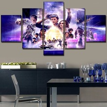 Modern Home Wall Art Decor Canvas Picture Modular Frame 5 Pieces Movie Ready Player One Role Poster HD Print Painting