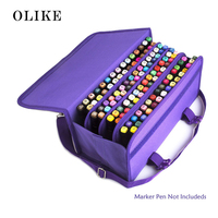 OLIKE Marker 120 Holders Organizer Case Storage For Primascolor Copic Marker So On Fits From 15mm