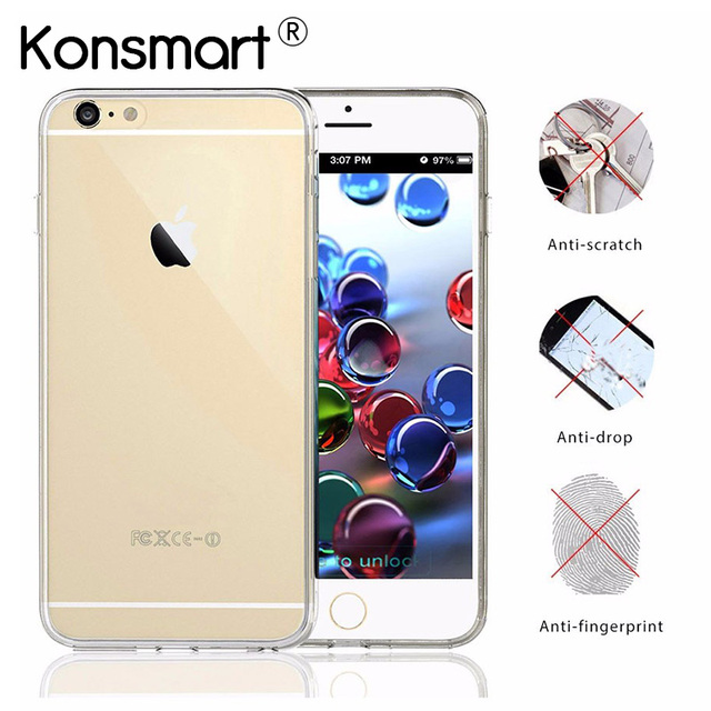 KONSMART Ultrathin Case For iphone 6 Transparent Soft Silicone TPU Coque  iphone6 Phone Cases Crystal 4.7
