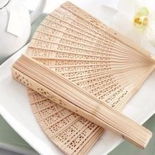 Китайский Японский складной веер деревянный ручной цветок бамбука Карманный вентилятор для домашнего декора Decoracion Fiestas