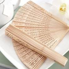 Chinese Japanese Folding Fan Original Wooden Hand Flower Bamboo Pocket Fan for Home Decor Decoracion Fiestas(China)