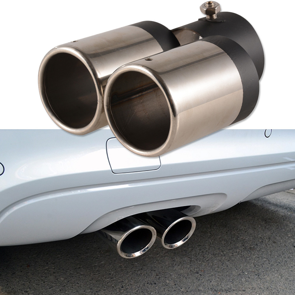 Y Pipe Dual/Dual Automobile Exhaust Pipes Tips Car Stainless Steel Chrome Round Tail Muffler Tip Pipe-in Exhaust Headers from Automobiles u0026 Motorcycles on ...  sc 1 st  AliExpress.com & Y Pipe Dual/Dual Automobile Exhaust Pipes Tips Car Stainless Steel ...