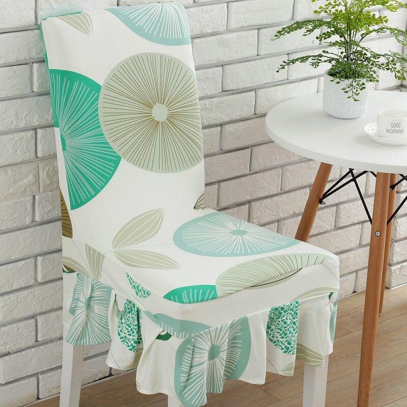 ③1 unid spandex elástico grande comedor Fundas para sillas breve a ...