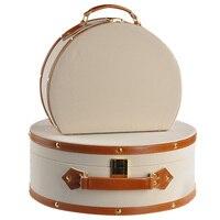 2 adet bej kaşmir deri süet çanta ark kozmetik çantası depolama mücevher kutusu modeli odası dekorasyon kutusu