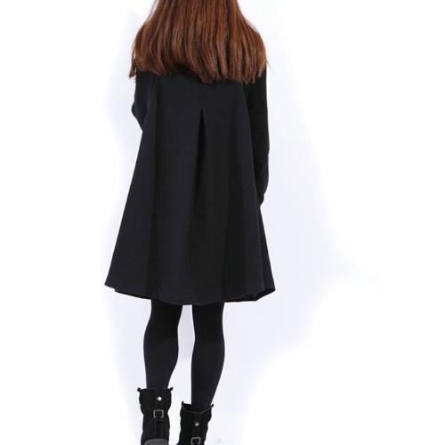 J295 Manches Clobee Chauve Femmes Col Roulé Noir 2018 Velours Hiver souris Épaississent Vestes Élégantes Grand vert Dames Plus rouge Manteaux Mélanges gris Laine Porter De rrRqxZf