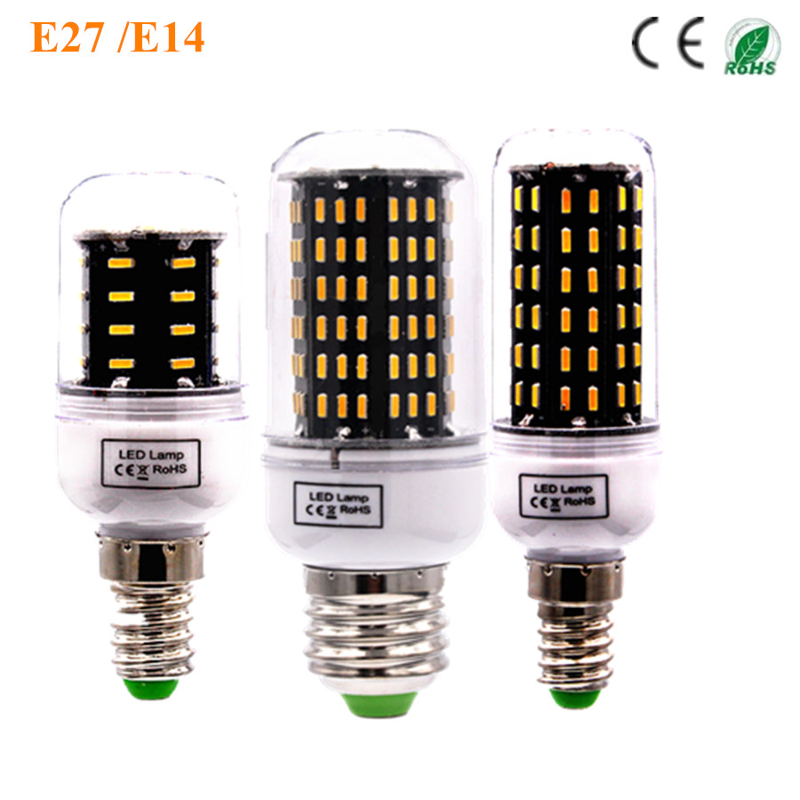 Buy led e27 bulb lamp corn ceiling spot light high bright 220v 110v 4014 smd The light bulb store