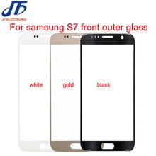 S7 preto branco ouro azul escuro substituição do painel da tela de toque para samsung galaxy s7 g930 g930f frente exterior lente vidro pçs/lote