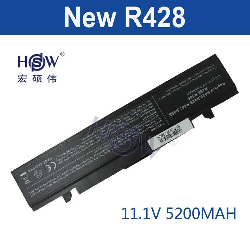HSW Laptop Battery For Samsung R428 R468 R470 R478 R480 R517 R520 R519 R525 R523 R538 R540 R580 R620 R718 R720 R728 R730 R780 new laptop c shell cover for samsung r478 r480 ba75 0411b