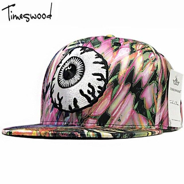 Hip Hop Gorra de béisbol Del Snapback Sombreros Para Hombres Mujeres Ojos  demonio de Impresión Tapas efae16546f7