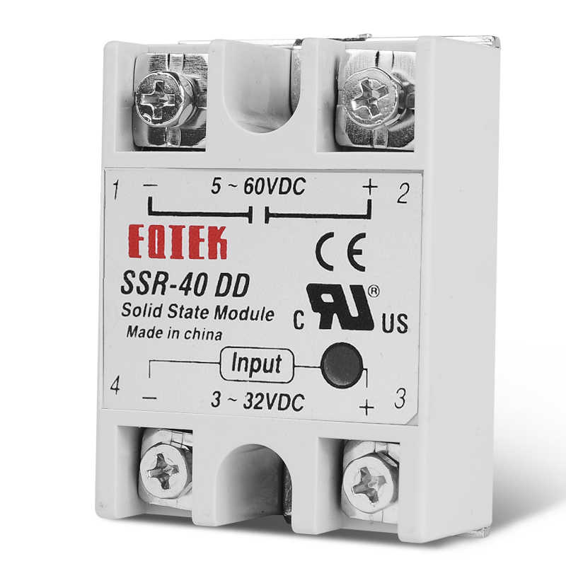 DC-DC monophasé relais à semi-conducteurs DC DC SSR Module 10A 25A 40A DD tension d'entrée 3-32 V 12 V DC à 5-60 V DC charge de sortie