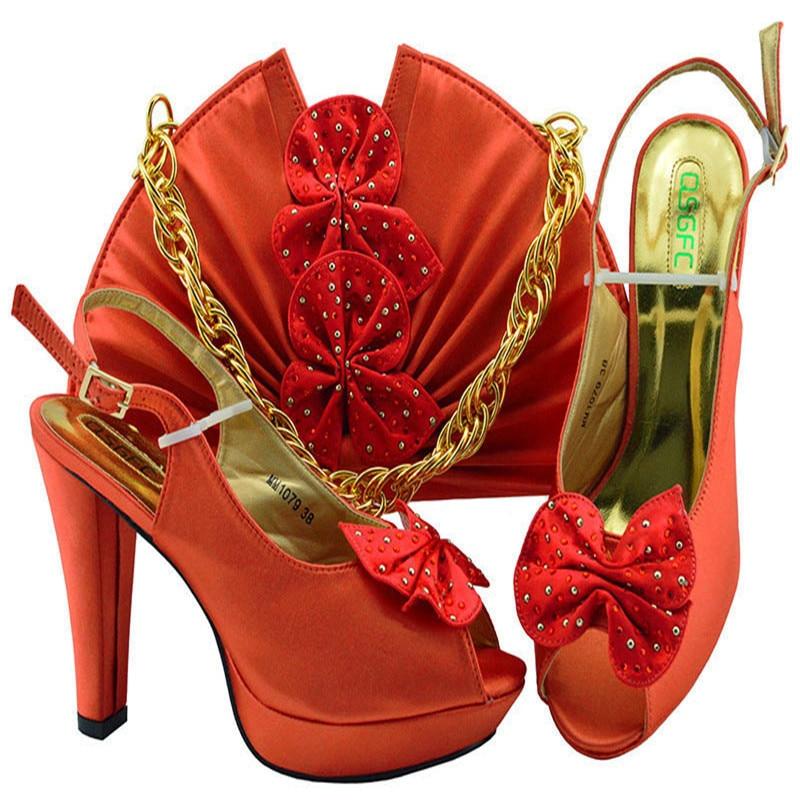 peach Mary Ankunft S Set Und orange Für Afrikanische Schuhe purpurrot Janes fuchsia blue Orange teal Neue Taschen silber Mm1079 party gelb Hochzeit 4TpwxqAw