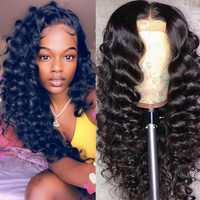 250% Glueless Full Lace Wigs Transparent Deep Loose Wave Brazilian Virgin Human Hair Wig Pre Plucked With Baby Hair Dolago