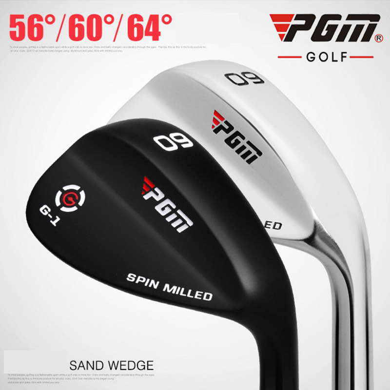 PGM Golf Wedge Club Stainless steel Professional Sand Pole 56 60 64 degrees Golf Club Slivery Cue Black Bar on Ayanway Store