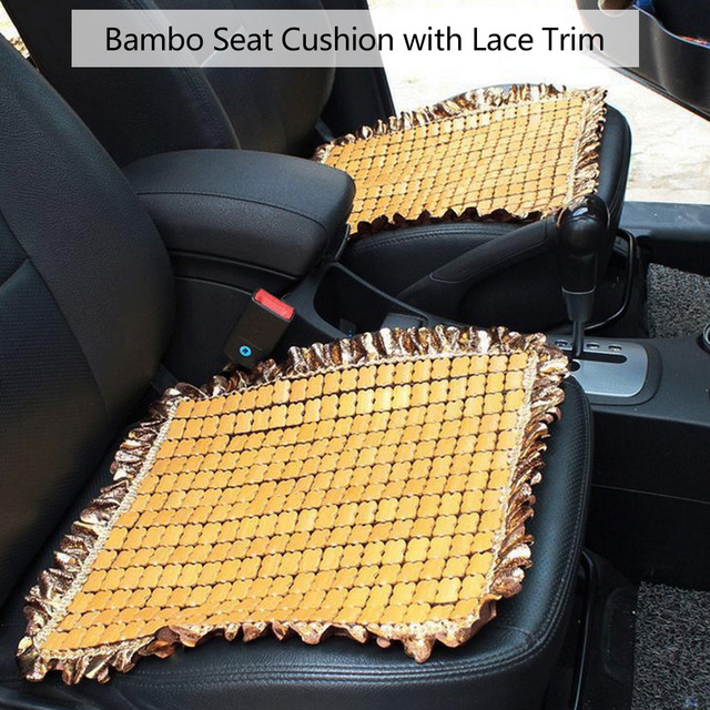Dewtreetali Bamboo Front Car Seat Cushion Universal Summer Chair Mat Seat  Covers Supports Pad Coffee Beige