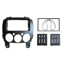 Car 2 Din Refitting Frame Panel for Mazda 2 2010 Demio 2007+ Stereo Radio Fascia Dash Mounting Trim Kit цена