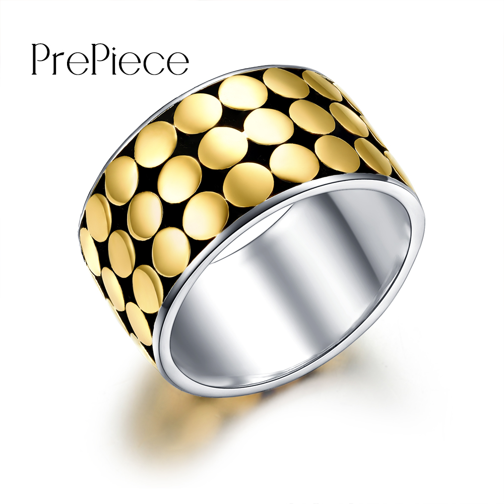 Prepice Brand Designer Multi Round Beautiful Unique Rings for Women Fashion Cocktail Rings Gift Gold Color Bagues Strass PUR0390