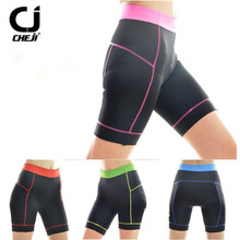 5 Colors Women Cycling Clothing Bike Bicycle 3D Silicone Padded Short