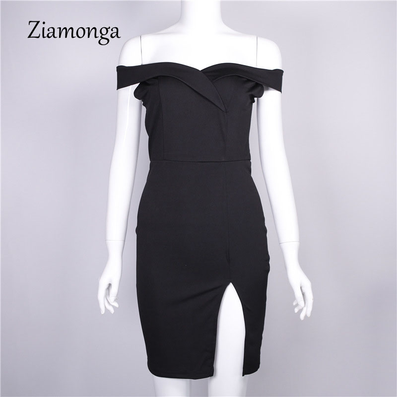 HTB17y2XXlUSMeJjy1zkq6yWmpXaS - Ziamonga Women Autumn Dress Winter Black Red Off Shoulder Backless Tunic Party Dress Sexy Robe Femme Bodycon Bandage Dress