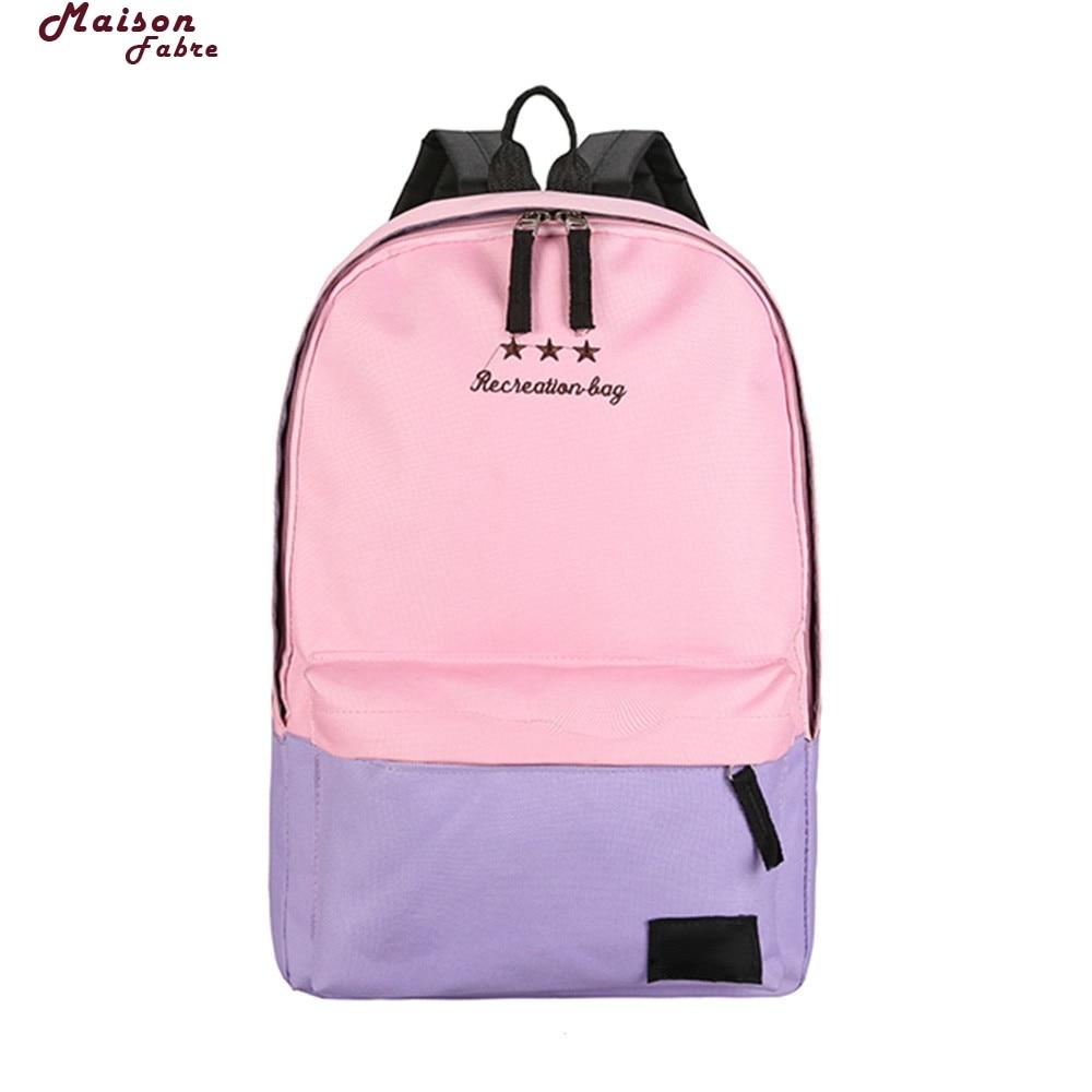 Maison Fabre Womens Backpack Backpack Women Children Schoolbag Back Pack Leisure Knapsack Laptop Travel Bags