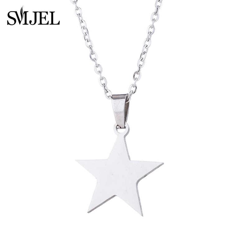 SMJEL argent Star Style colliers boucles d'oreilles bijoux ensembles femmes accessoires bijoux garçons colliers Choker chaîne nouvel an cadeaux