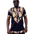 Mens africano dashiki impreso camisa patchwork camisetas de manga corta ropa ropa hecha a medida de áfrica