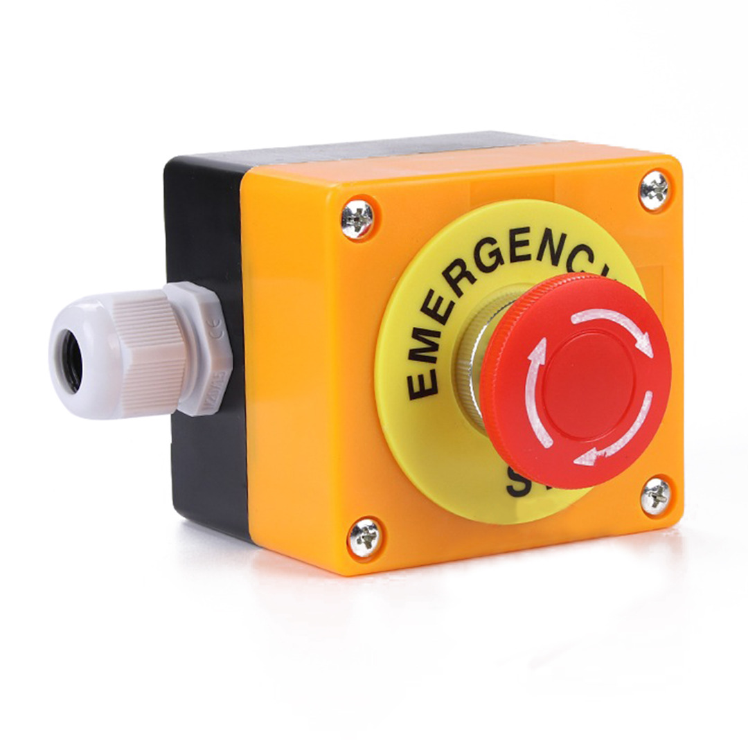 все цены на  Waterproof Red Sign Emergency Stop Push Button Mushroom Cap NO+NC AC660V/10A Stop Push Button Switch  онлайн
