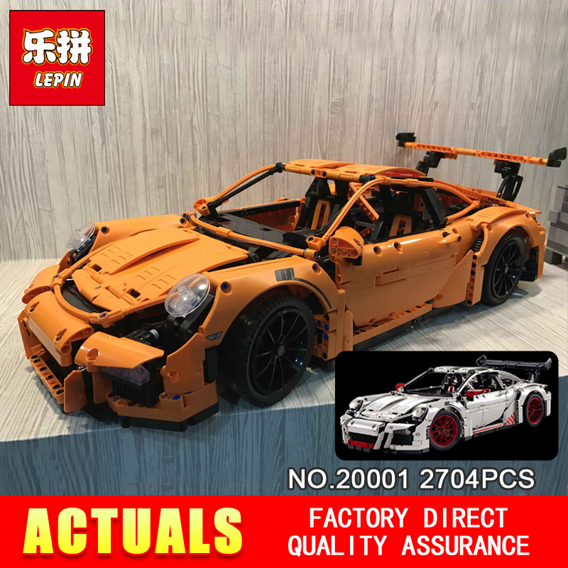 цены  New LEPIN 20001 technic series  Race Car Model Building Kits Blocks Bricks Compatible 42056 Boys Gift  Educational Toys