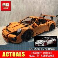 LEPIN 20001 Technic Series 911 GT3 RS Model Building Kits Minifigures Blocks Bricks Compatible LEGOe 42056
