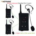 3 Pcs 2016 New Vnetphone Football Referee Intercom BT Interphone Full Duplex Helmet Bluetooth Soccer Referee Headset for Aerial