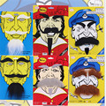 2016 Горячие продаж Новинка игрушки Маскарад партия игры cos вечеринок усы черно-белая борода фальшивую бороду