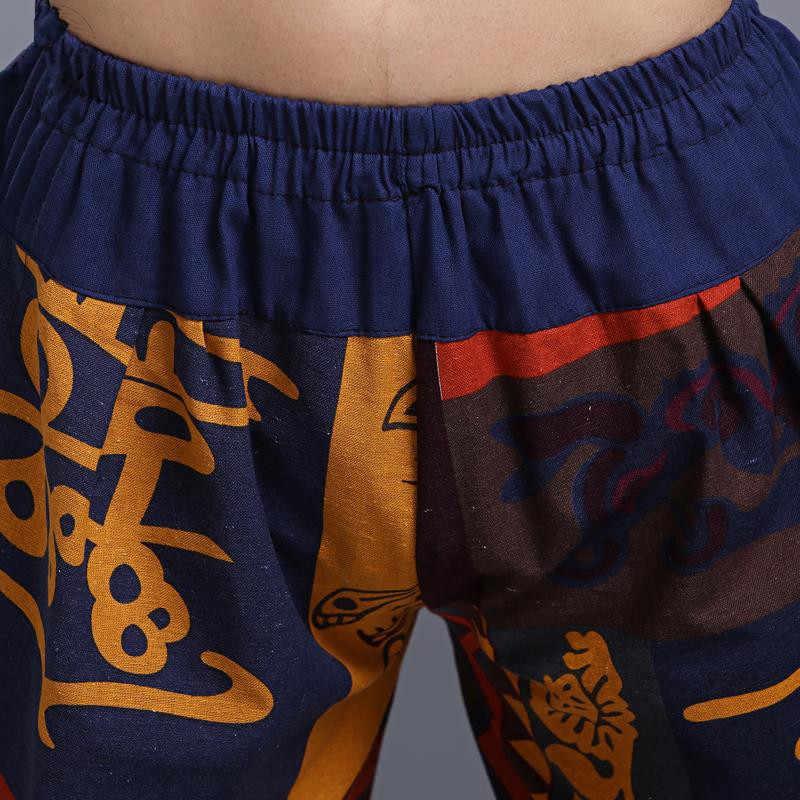 Шаровары в стиле хип-хоп Aladdin Hmong, мешковатые хлопковые и льняные брюки-шаровары для мужчин и женщин, большие размеры, широкие брюки, новые повседневные штаны в стиле бохо