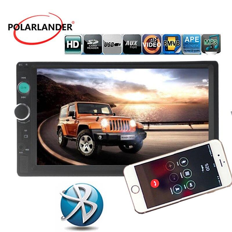 Car stereo car MP4 MP5 player 2 DIN Bluetooth 7 inch car radio with remote control 7010B1 car audio Mirror Link
