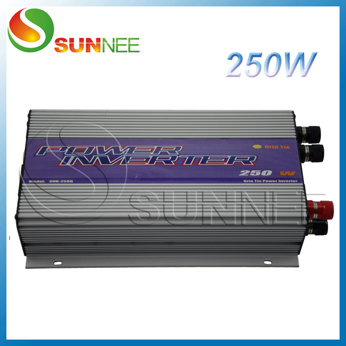 250W Wind Turbine On Grid Power Inverter AC input,built-in dump load controller,factory wholesale solar power on grid tie mini 300w inverter with mppt funciton dc 10 8 30v input to ac output no extra shipping fee