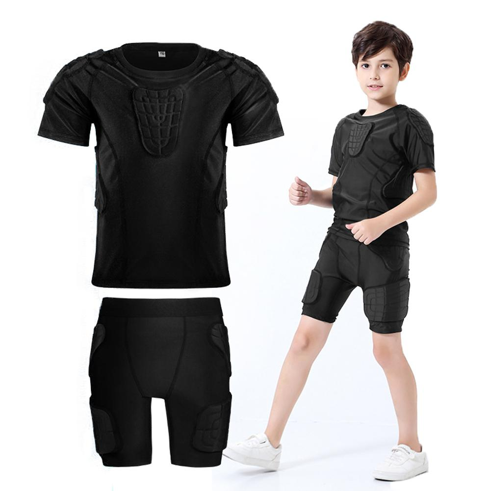 HobbyLane Children Safety Protective Kits Thicken Gear Goalkeeper Jersey Shorts Football