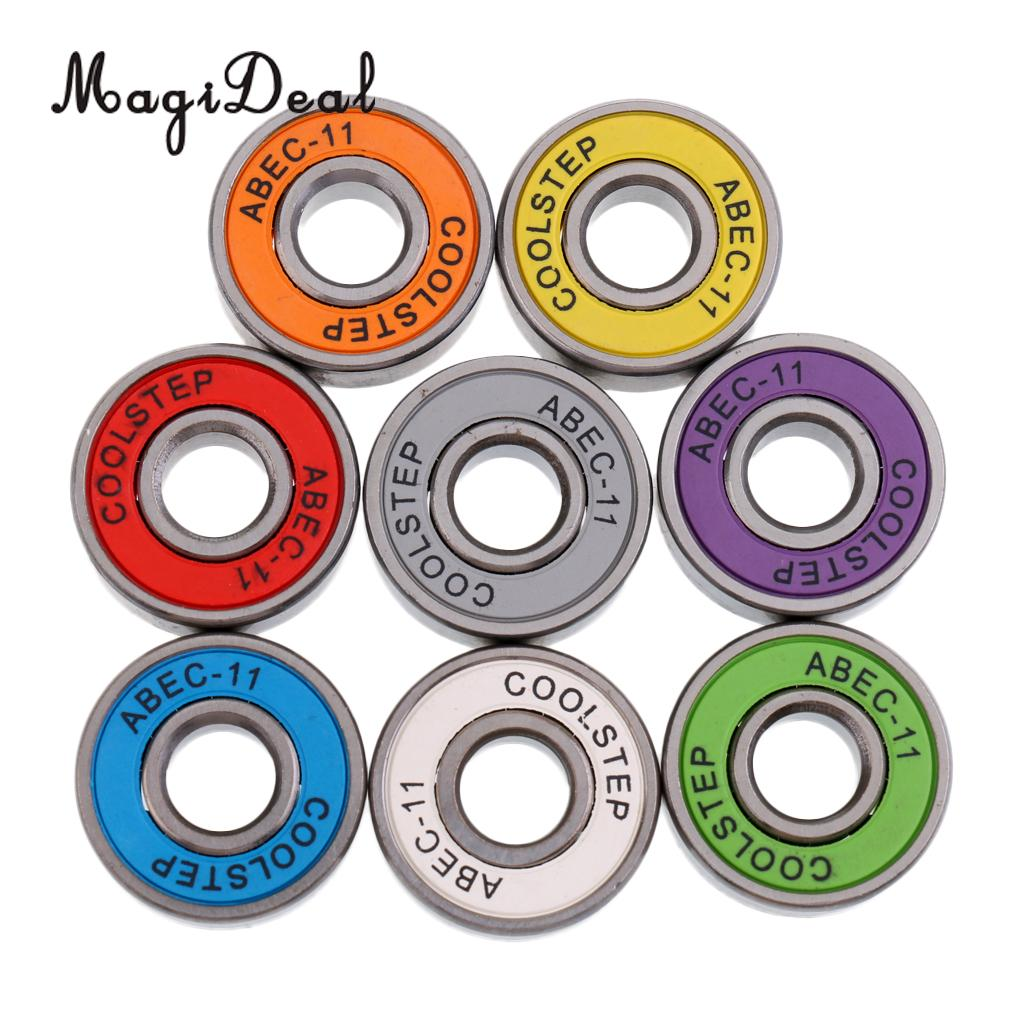 MagiDeal 8 Pieces ABEC 11 High Speed Wearproof Skateboard Scooter Inline Bearings Skateboard Scooters Skate Board Accessories