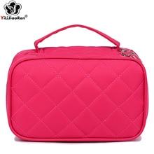 Fashion Diamond Lattice Make Up Bag Portable Travel Makeup Organizer Large Pouch High Quality Nylon Box 2019
