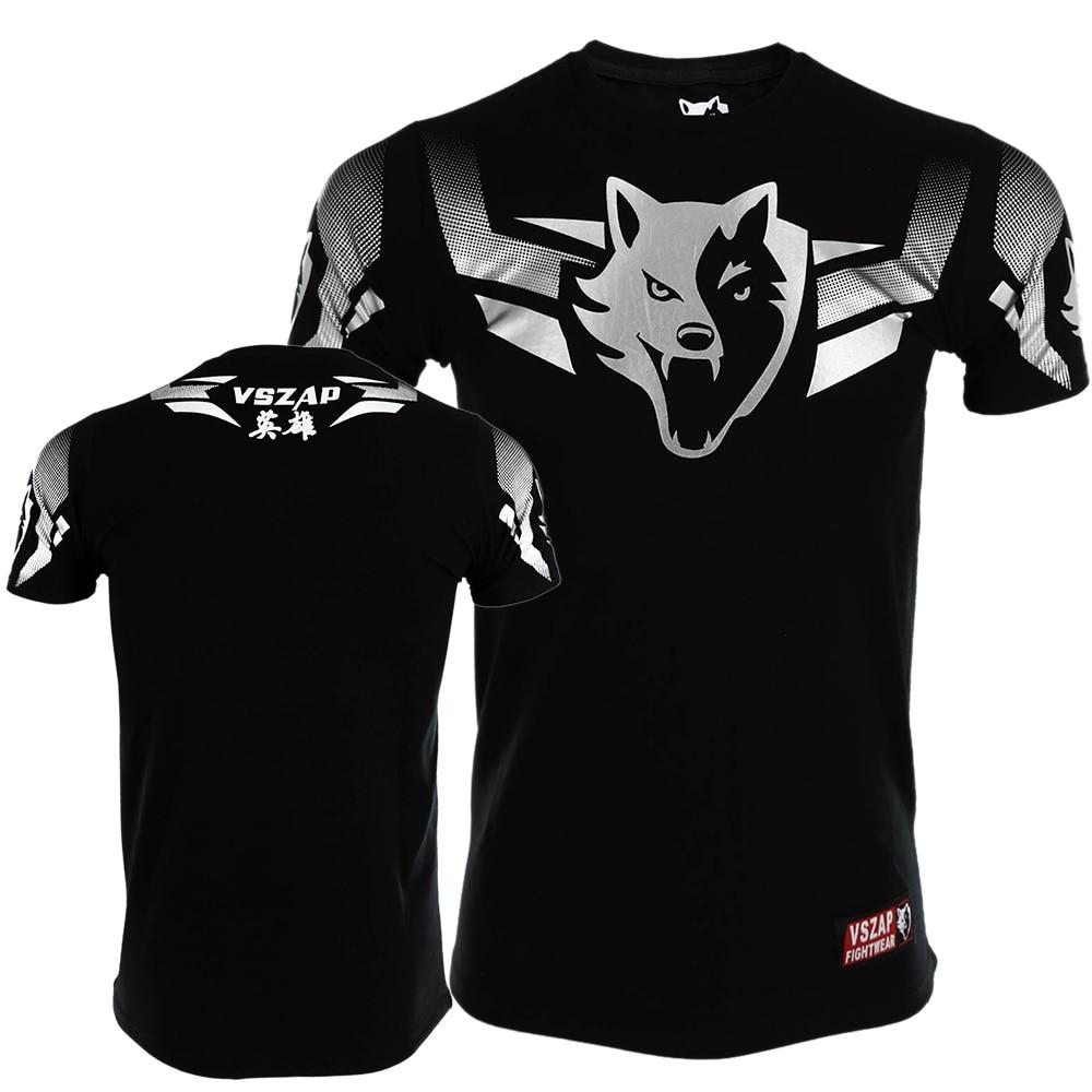 2017 New VSZAP T-shirt Men Sports Aerobics Running Boxing Clothing Boxing Gym T Shirt Cheap Mma Muay Thai MMA Suits Tee Shirt