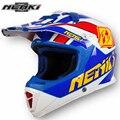 NENKI Stylish Men Women Motocross Helmet Windproof Motorcycle Racing Cross-Country Helmet Fiberglass Dirt Motorbike Helmet