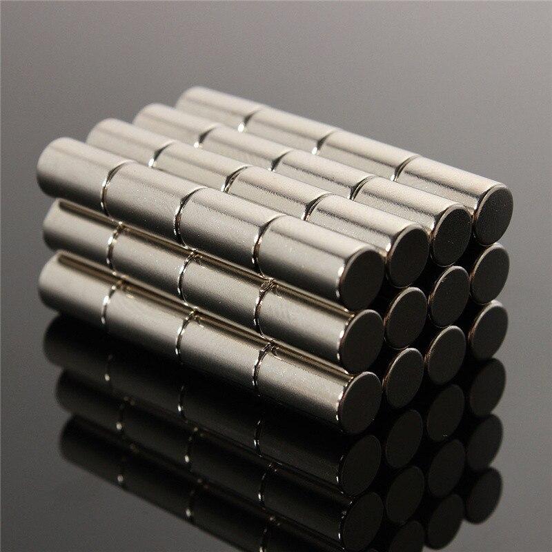 50pcs 6 x 10mm N50 Strong Round Magnets Rare Earth Neodymium Permenent Magnets Disc Cylinder NdFeB Magnet 6mm x 10mm lot 10pcs n52 super strong round cylinder magnets 5 mm x 10 mm rare earth neodymium magnet ndfeb neodymium neodimio imanes