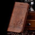 Alta qualidade leather flip capa carteira case para samsung galaxy s5 s6 s7 borda pu floral de couro do telefone móvel sacos para s6edge case