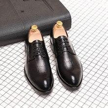 REETENE High Quality Leather Men'S Flats Shoes Men Footwear Casual Men'S Winter Shoes Fashion Men Oxford Shoes For Business