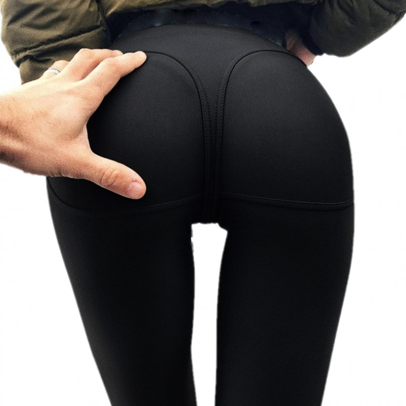 2018 Gothic Sexy Hip Push Up Leggings For Fitness Low Waist Black Leggings Women Jegging Leggins Jeggings Legins