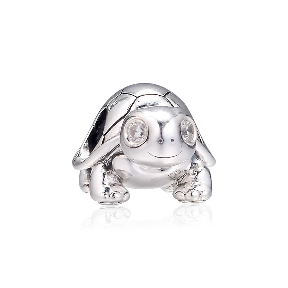 FANDOLA ลูกปัด Bright-Eyed Turtle Charm 100% 925