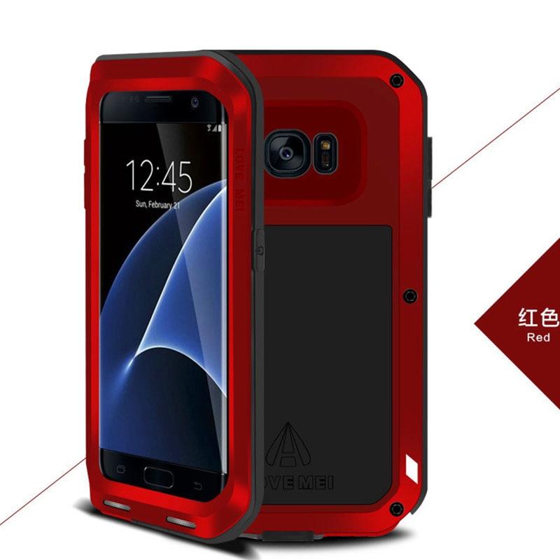 imágenes para Amor Mei Potente Aluminio A Prueba de Golpes Cubierta Del Caso Para Samsung Galaxy S6/S6 Edge/S6 Edge Plus/S7/Borde S7 Teléfono Cubiertas de Los Casos