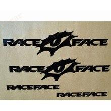 Adesivo de vinil para corrida de bicicleta, rosto personalizado engraçado