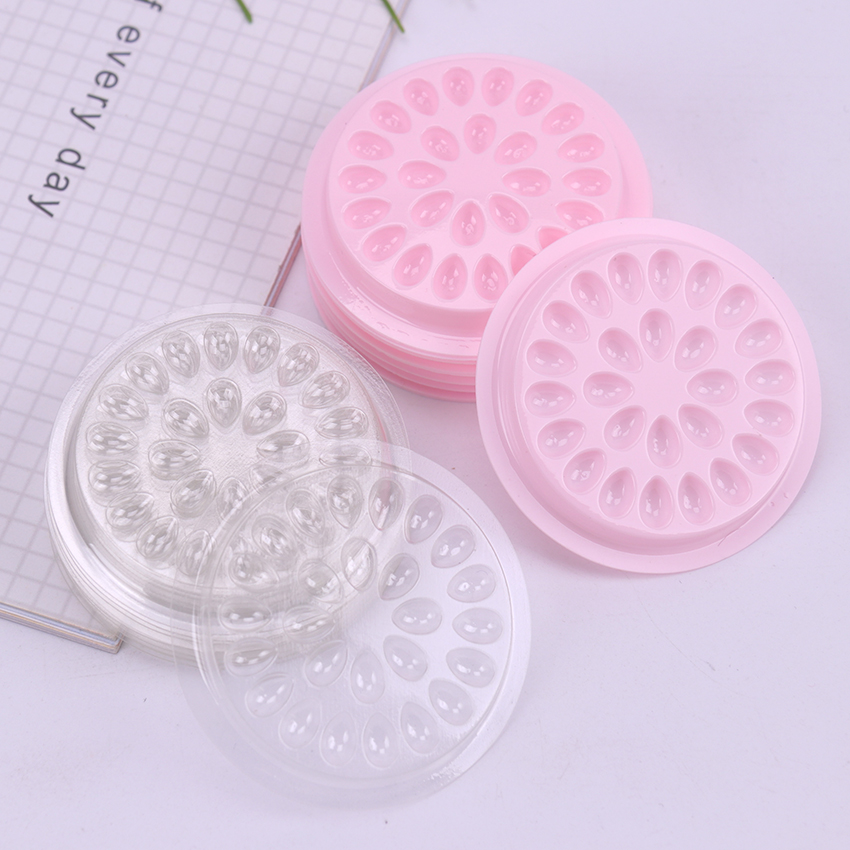 10PCS Plastic Glue Gasket Flower Shape Pad False Eyelash Extension Glue Holder Pallets For Eyelashes Extension Tools